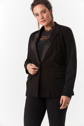Veste blazer avec revers brillants