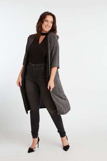 Cardigan long en lurex