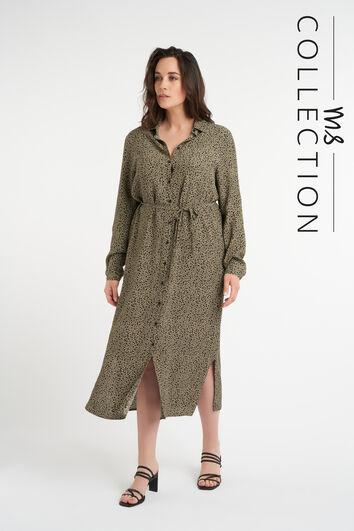 Robe longue avec ceinture à nouer
