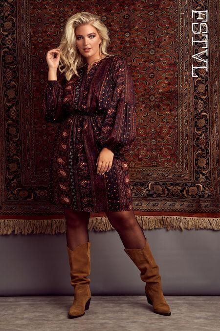 Robe tunique à imprimé