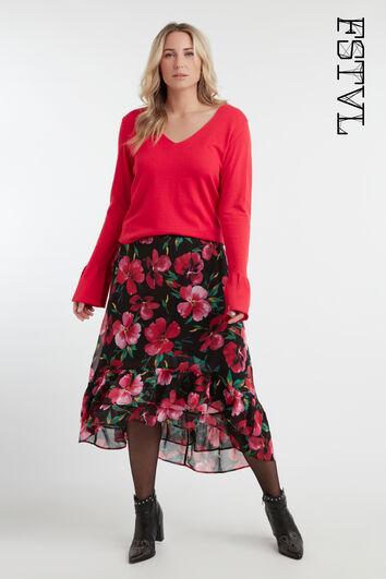 Jupe florale