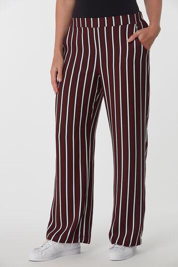 Pantalon large rayé