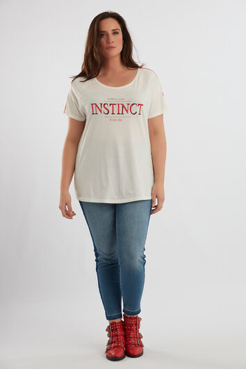 T-shirt imprimé avec détails sportifs
