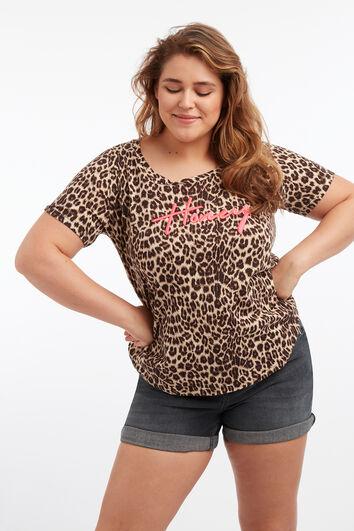 T-shirt à imprimé animal