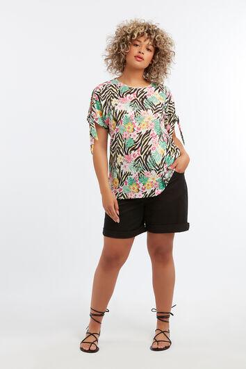 Tee-shirt avec épaules ajourées