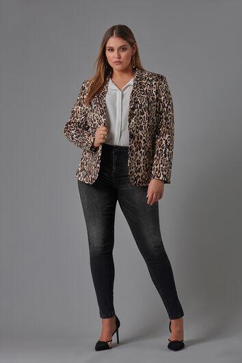 Veste blazer à imprimé léopard