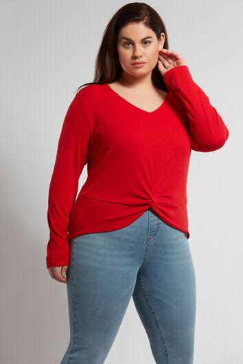 Chemise tricotée avec détail noué