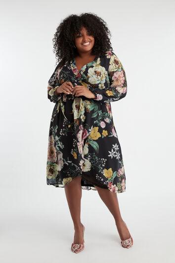 Robe portefeuille à imprimé floral