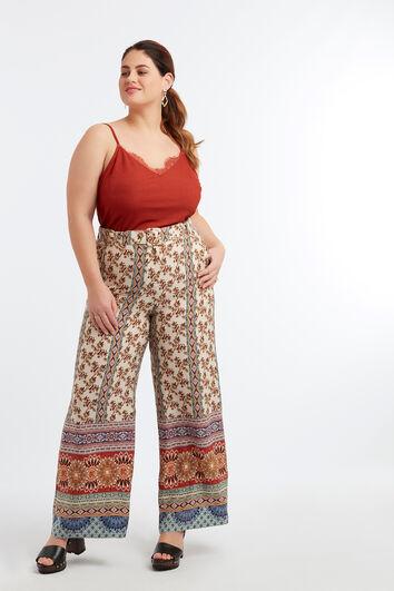 Pantalons larges avec imprimé