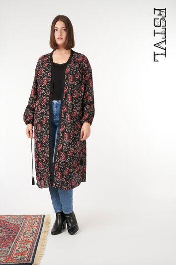 Kimono à imprimé cachemire