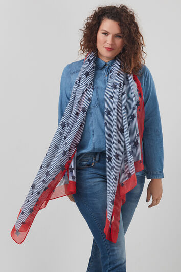 Foulard avec imprimé étoiles