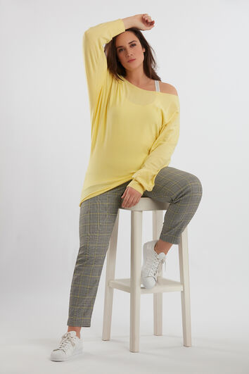 Pantalon à carreaux avec fermeture Éclair
