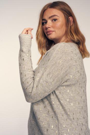 Sweater à imprimé métallisé