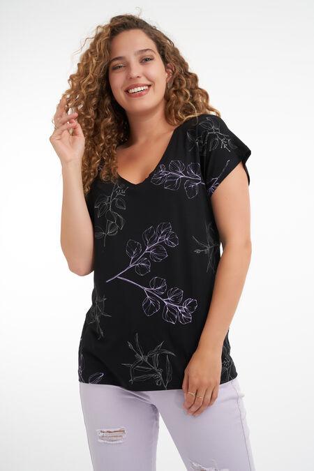 T-shirt avec imprimé botanique