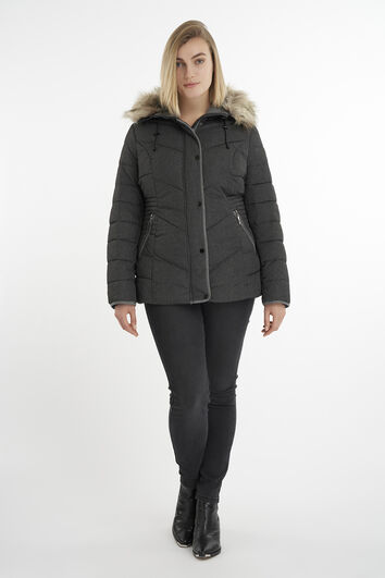 Manteau matelassé à capuche