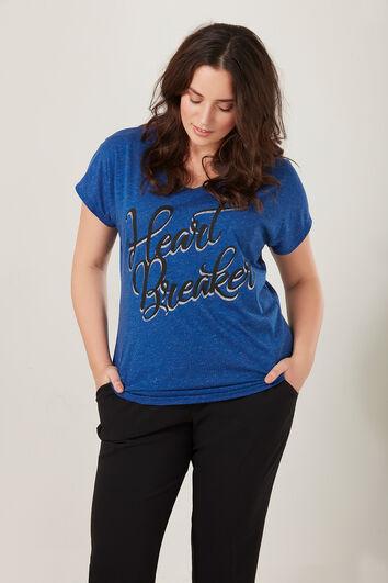 T-shirt avec lurex et inscription