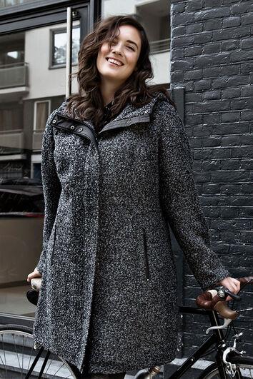 Manteau demi-saison en mélange de laine