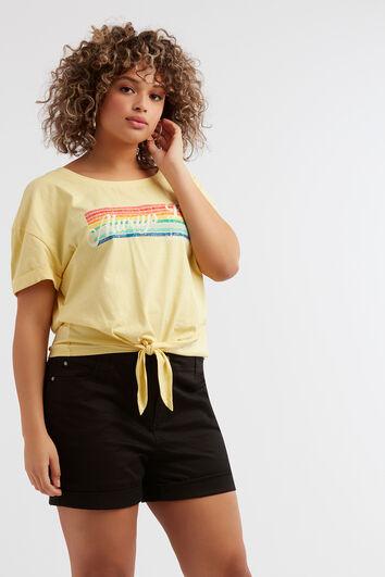 T-shirt à imprimé arc-en-ciel