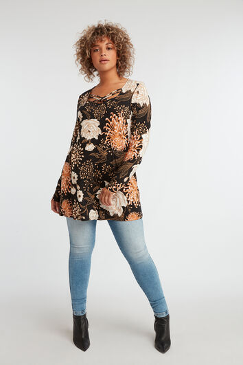 Tunique à imprimé floral