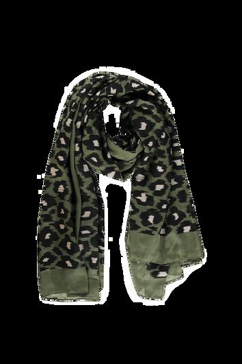 Foulard à imprimé léopard