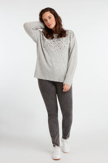 Pull-over à paillettes