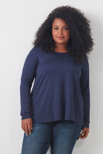 Chemise avec dos plus long