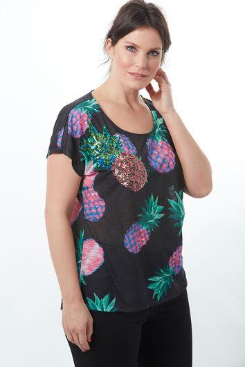 T-shirt avec imprimé ananas