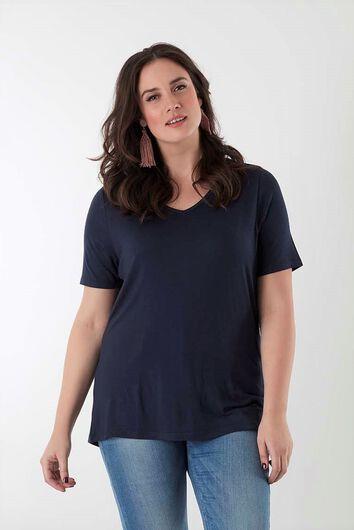 T-shirt avec décolleté en V