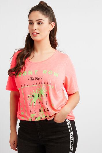 T-shirt à imprimé fluo