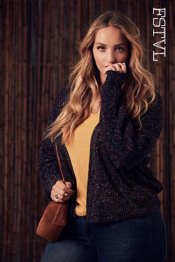 Cardigan tricoté original