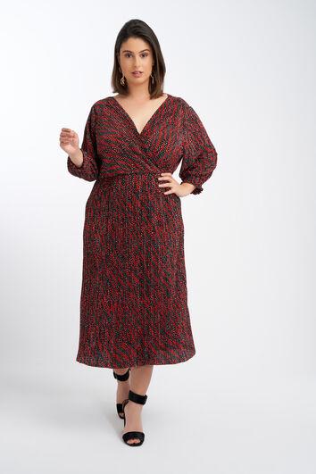 Longue robe plissée
