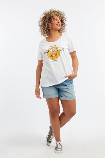 T-shirt à imprimé textuel
