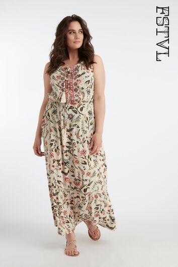 Robe longue bohème imprimée