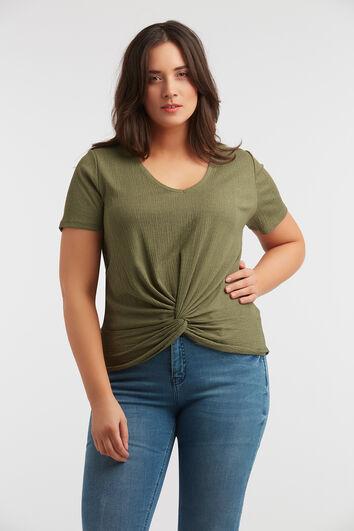 T-shirt avec détail noué