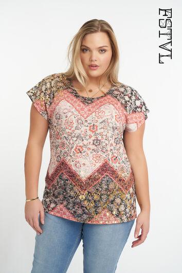 T-shirt avec imprimé coloré