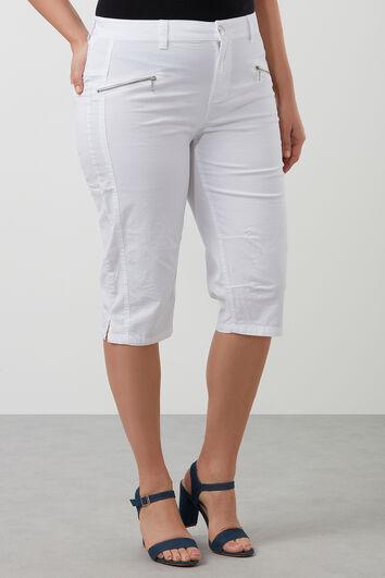 Pantalon corsaire en coton