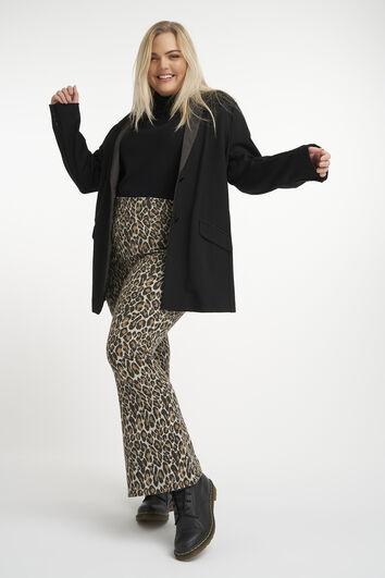 Legging évasé à imprimé léopard