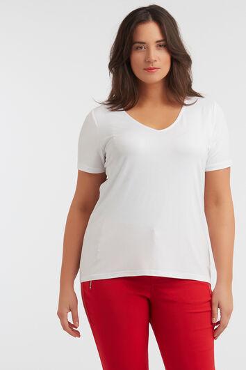 T-shirt en tissu flammé