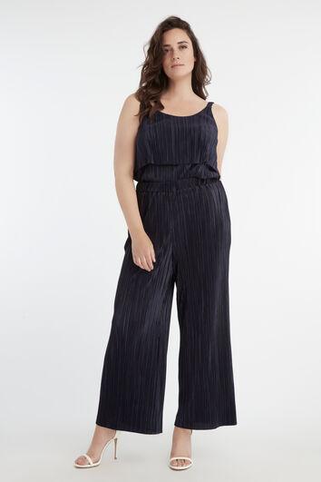 Pantalon plissé extensible
