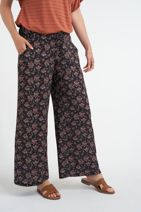 Pantalon large imprimé