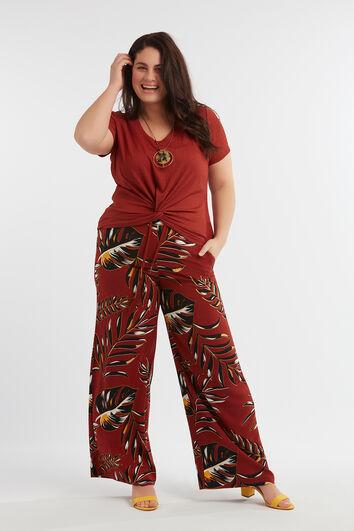 ee967113f36 Pantalon large avec imprimé intégral