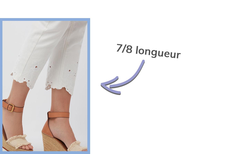 détail des pantalons courts