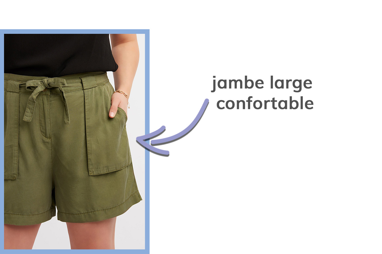 détail des shorts