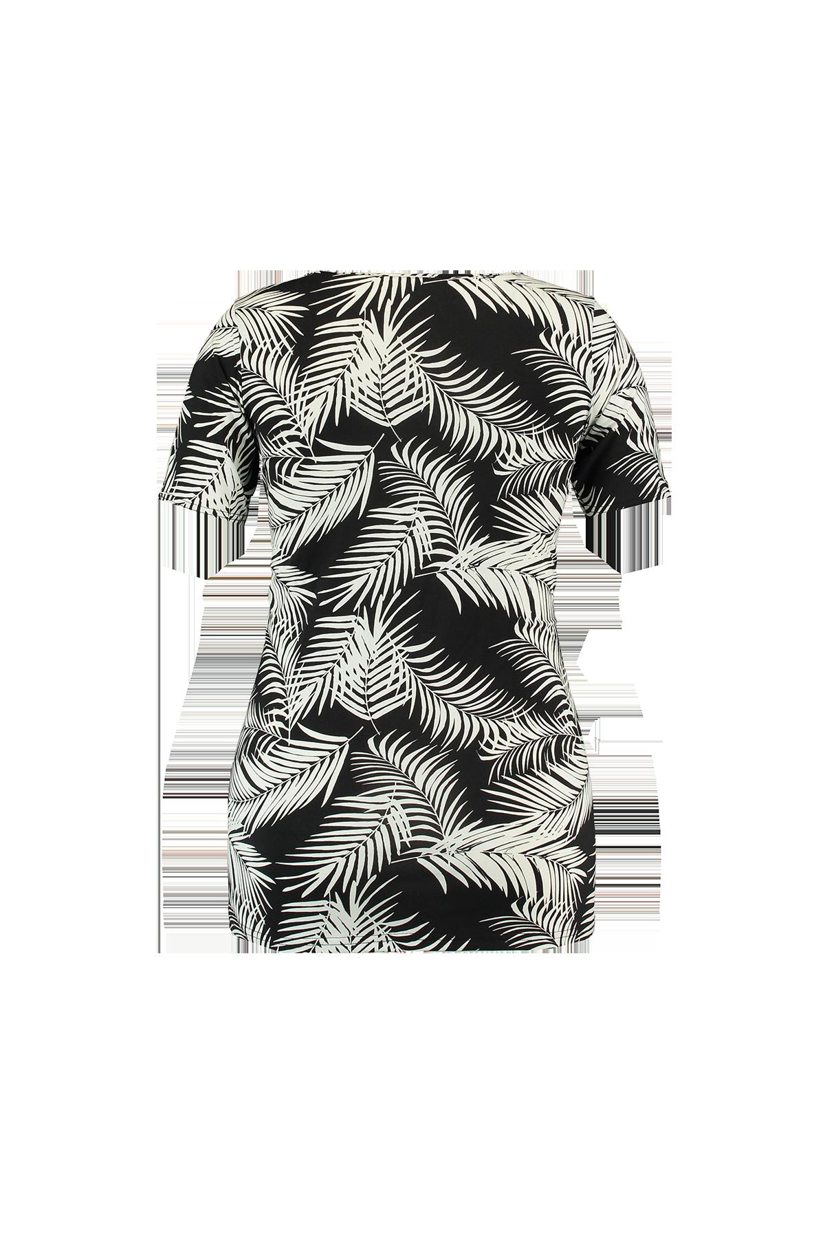 8fda2e62d69e3 Multi Gris-Noir T-shirt avec fente en V et bretelles croisées à MS Mode®